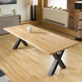 VENUS solid oak rectangular dining table