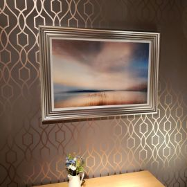 Beautiful Print of Tranquil Dusk Across Water Contemplation 610x915 mm