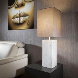 Large Modern Designer Table Lamp Large Concrete coloured Shade Nordic
