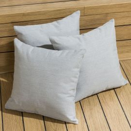Set of 3 Three x Outdoor Garden Scatter Cushion Silver / Light Grey