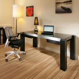Modern Designer Desk / Work Station Black Oak withGlass Top 1.8 Mt