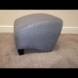 Modern Large Grey Fabric foot stool for Armchair Tub Chair Rocky.