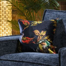 Contemporary Navy Floral Paradise Scatter Cushion Pillow 430 Square