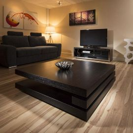 Extra Large Modern Square Black Oak 1.2mt Coffee Table AG Studios 397E