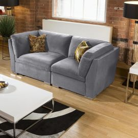 Quatropi Super Comfy Mikey Sofa Medium Grey 2 Seater Settee