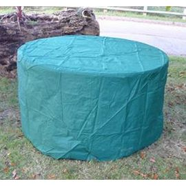 Green Rain Cover for Garden large Round Dining Table W185xD185xH74cm