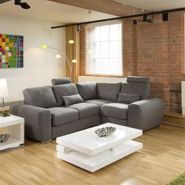 Lovely Modern Deep Corner Sofa Many Colours and Fabrics Grande 7LH