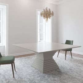 Stunning Large 1800 Square White Gloss Dining Table From Gual Portugal