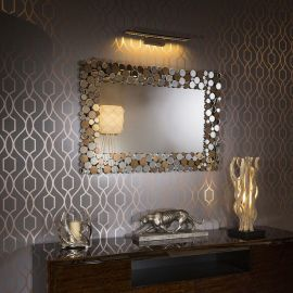 Luxury Rectangular Designer Wall Mounted Bubble Feature Mirror 120x80