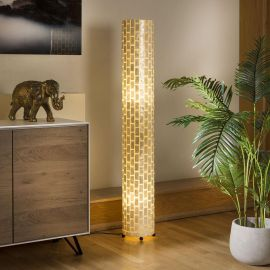 Modern Tall Elegant Cylindrical Ivory Brick Floor Lamp 1500mm High