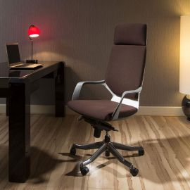 Luxury High Back Office Chair Brown Executive Ergonomic Modern Xenon