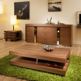 Modern Coffee / Side / Lamp Table Walnut Stunning Designer Retro 397A