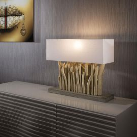 Beautiful Unique and Modern Driftwood table lamp / light lighting Goa
