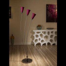 Modern Floor / Standard Lamp / Light /Lighting Purple Glass Shades Fan