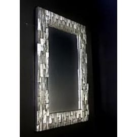 Striking Quatropi ModernRectangular 1200 x 800mm Chunky Block Mirror