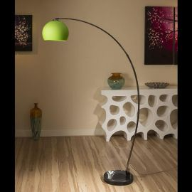 Lounge Retro Arco Standard / Floor Lamp / Light / Lighting Green Glass