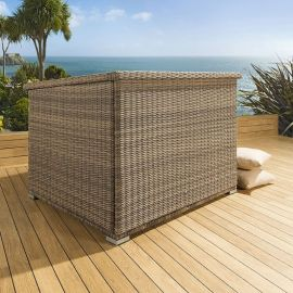Luxury Outdoor Garden Brown Rattan Storage Box / Cupboard / Chest New