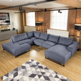 Amazing Massive Cinema U Shape Modular Effie Sofa Group 3.8 x 2.9m