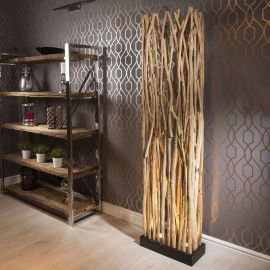 Beautiful 2000mm Extra Tall Driftwood Halogen Uplit Crozet Floor lamp