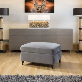 GB045 Harold Footstool Made to Order, Choose which colour swatches you would lik