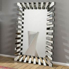 Stunning Rectangular Designer Wall Mounted Feature Mirror Zip 140x100