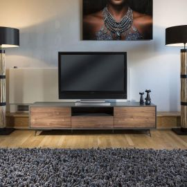 Quatropi Tembie Large TV Stand / Cabinet / Sideboard Walnut / Grey