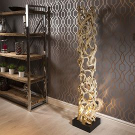 Unique Modern Designer driftwood halogen Floor Lamp Light 1.75m high