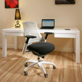 Modern Luxury Office Chair White Frame Executive Ergonomic Modern FL3X