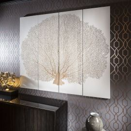 Large Wall Art Artwork Hand Carved into Wood White Oak Tree 1.5x1.8mtr