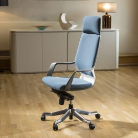 Luxury High Back Office Chair Blue Executive Ergonomic Modern Xenon