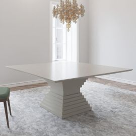 Stunning Large 1500 Square White Gloss Dining Table From Gual Portugal