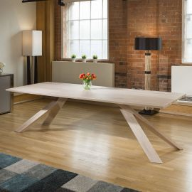 MERCURY Solid oak Scandi style rectangular dining table