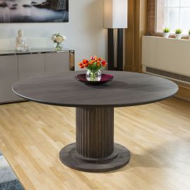 EARTH Solid oak round dining table