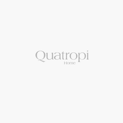 Quatropi Sophie Modern Grey Glass Dining Table +6x White Padded Chairs