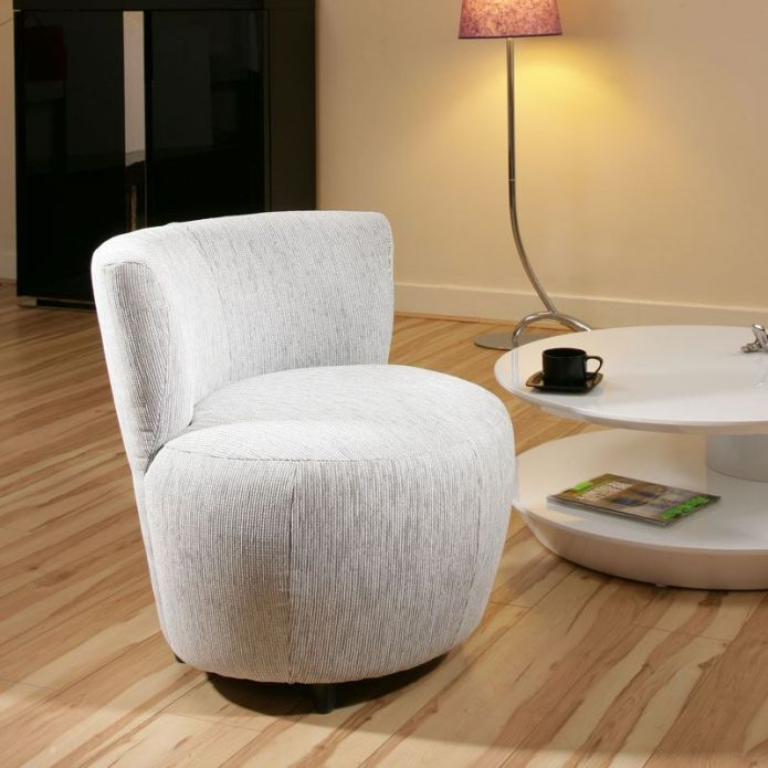 Amazing Modern White/light Grey Fabric Armchair/Armchairs Chair/Chairs