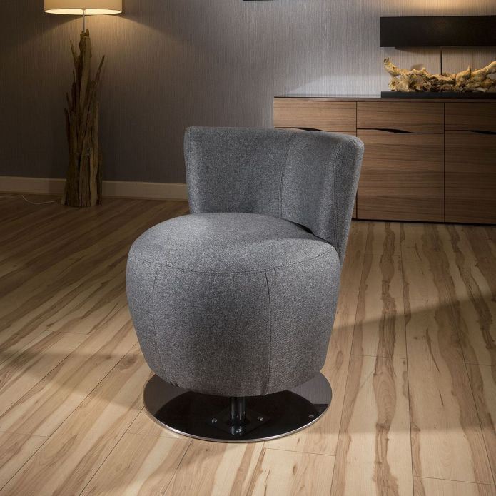 Amazing Modern Grey Fabric Armchair 360 rotating Tub Chair/Chairs New