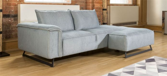 Effie Delightful Flexible Sofa with Chaise Many Fabrics 2.45 x 1.55m