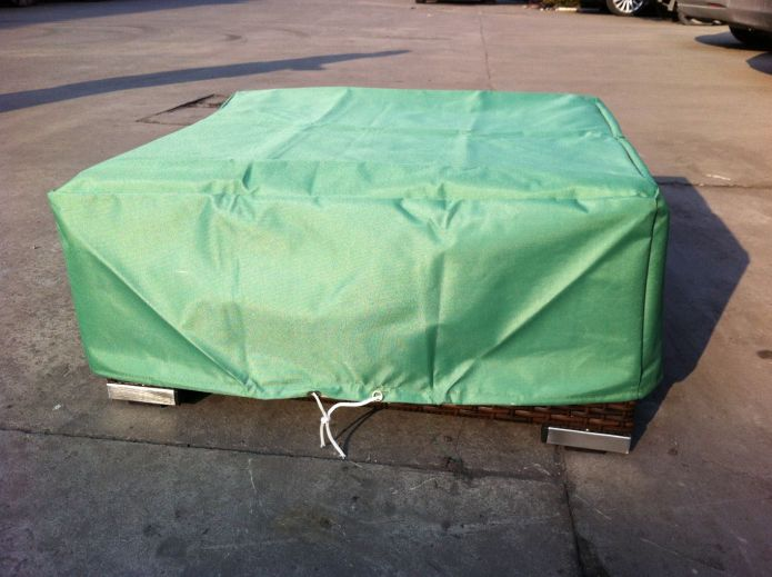 Green Rain Cover for Garden Low Coffee Table W73 x D73 x H28 cm