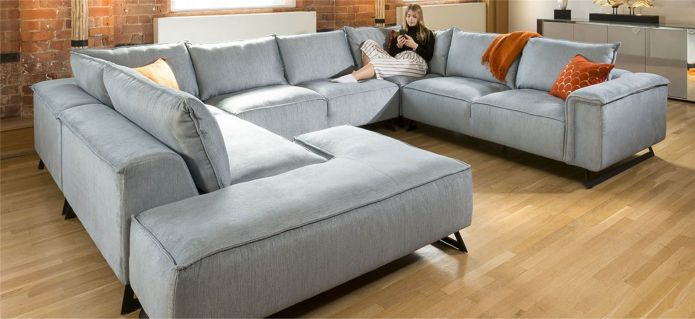 Enormous U Shape Cinema Effie Modular Sofa Made to Order 3.8 x 3.0m