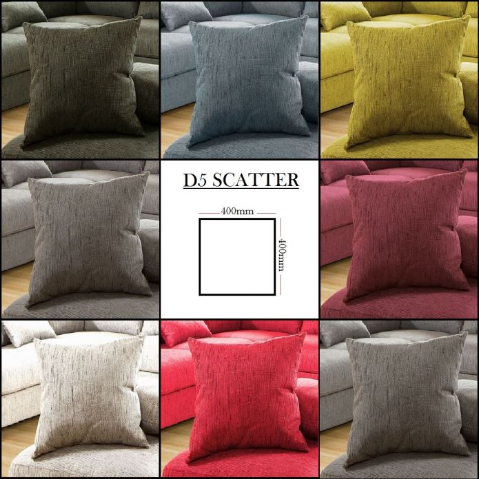 Square Scatter Cushion 40x40cm Made to Order, Choose which colour swatches you w
