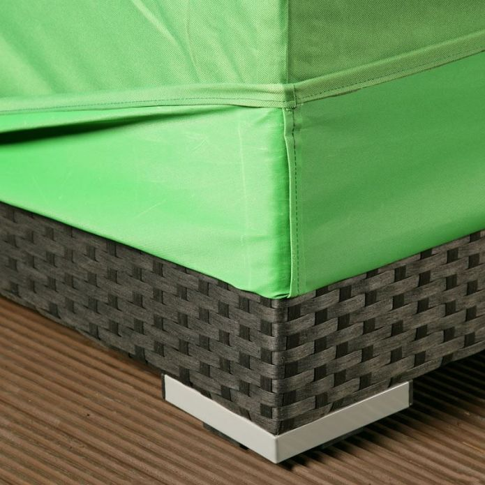 Rain / Weather Cover in Green for outdoor coffee table / footstool 04