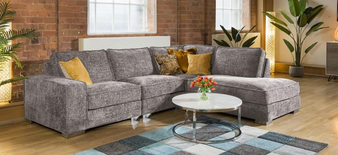 Huge Designer L Shape Soft Deep Sofa Many Colours & Fabrics Lexci 4R