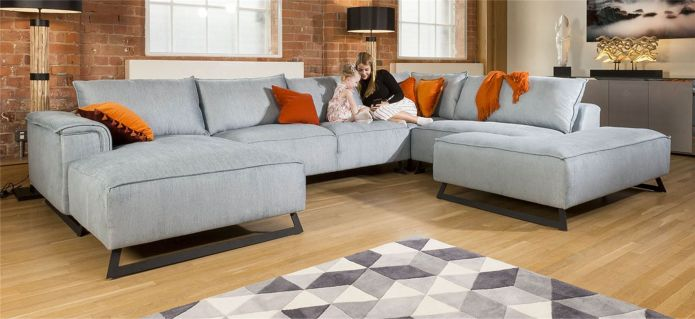 Amazing Grand Cinema U Shape Modular Effie Sofa Group 3.8 x 2.9m
