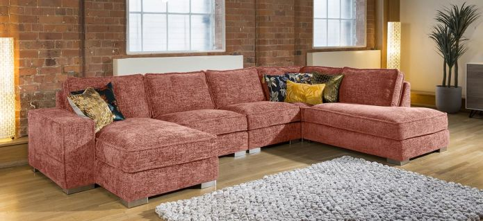 Quatropi Designer Cinema U Shape Sofa Many Colours & Fabrics Lexci 15R