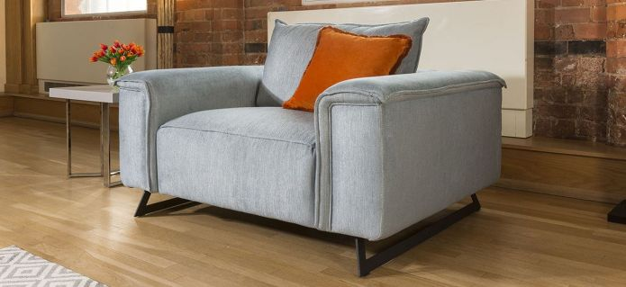 Effie Range Large Modern Luxury Armchair Many Fabrics Available 1.3m