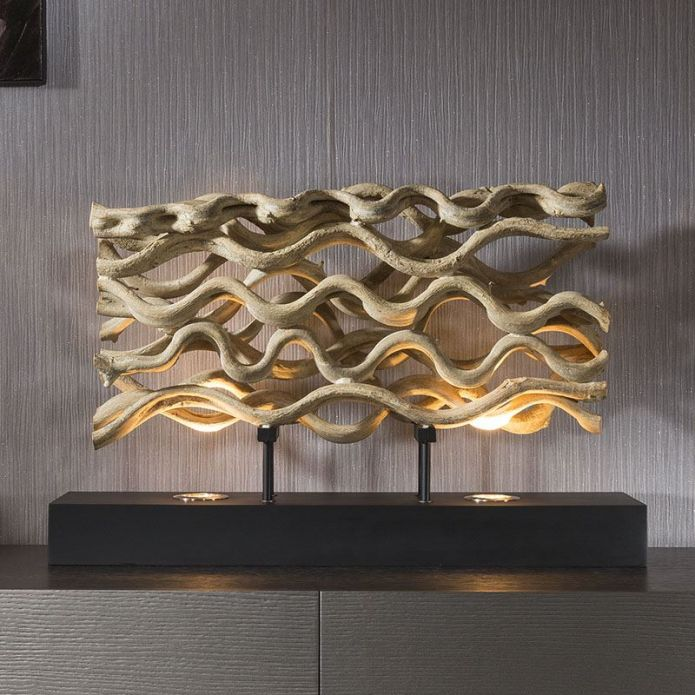 Beautiful Unique and Modern Driftwood table lamp/light halogen Savana