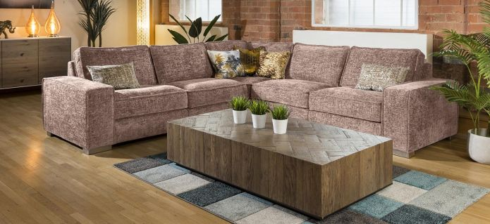 Modern Designer L Shape Soft Deep Sofa Many Colours & Fabrics Lexci 3