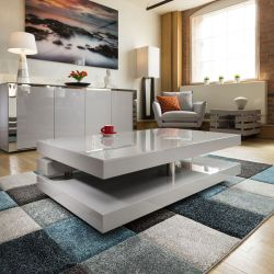 Beautiful Coffee / Side Table / Tables Grey Gloss Modern Designer 397A