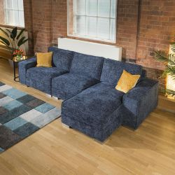 Luxury Large Modern Comfy 4 Seater & Chaise Many Colours & Fabrics 2R