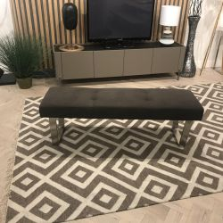 Ultra Stylish Modern High Quality Faux Suede Dining Bench